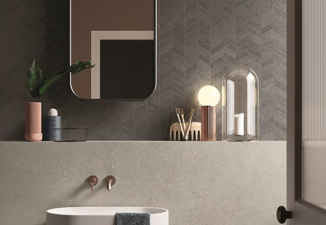 plyteles mozaika- silver grain